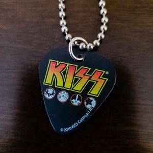 KISS Guitar Pick Necklace
